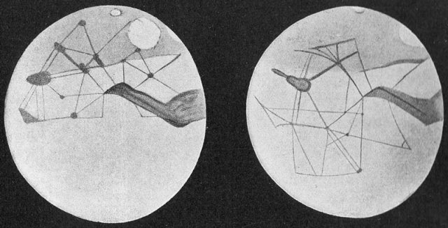 Percival Lowell's Sketch of the canals, 1914.